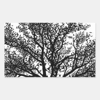 Livets träd rektangulärt klistermärke