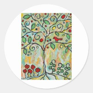 livets träd runt klistermärke