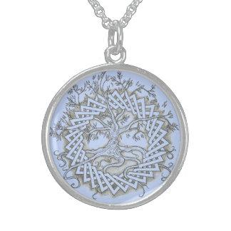 Livets träd sterling silver halsband