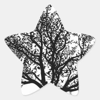 Livets träd stjärnformat klistermärke