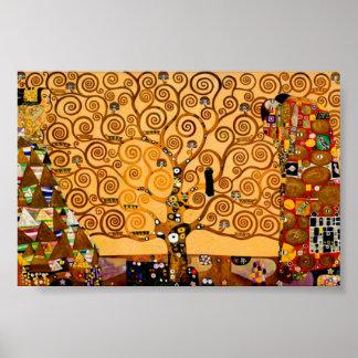 Livets träd vid Gustav Klimt konst Poster