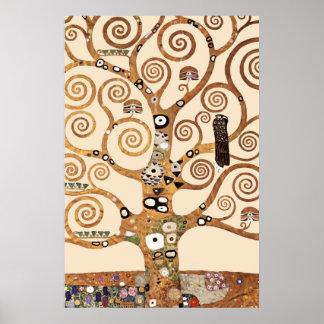 Livets träd vid Gustav klimt Poster