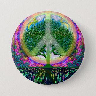 Livets trädenhet och fred mellanstor knapp rund 7.6 cm