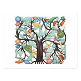 Livets trädpastell vykort