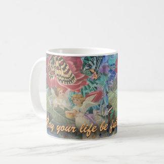 Livfullt av välsignelseänglar kaffemugg