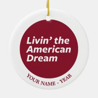 Livin amerikanska drömmen 2 julgransprydnad keramik