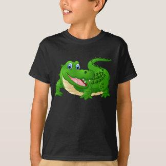Livlig lycklig krokodil t-shirt
