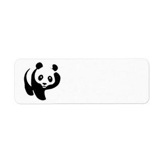 Livlig Pandabjörn Returadress Etikett
