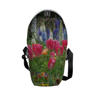 Livlig trädgård - messenger bag