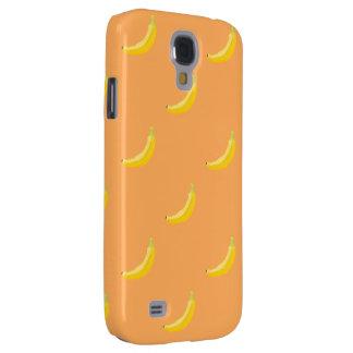 livlig tuff för bananmönster HTC Galaxy S4 Fodral