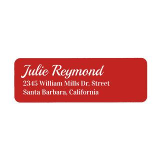 livligt rött för returadress returadress etikett