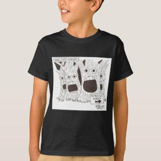 livrädd skog t-shirts