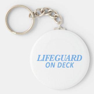 Livräddare på däcktryck rund nyckelring