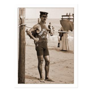 LivräddareBrighton strand 1905 Vykort