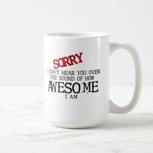 Ljud av den enorma roliga mugghumorn kaffe kopp
