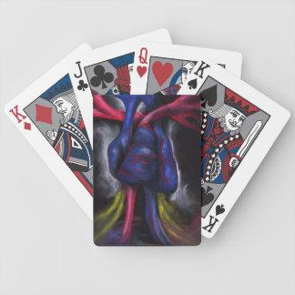 Ljud av en original- konst för blåtthjärta som spelkort