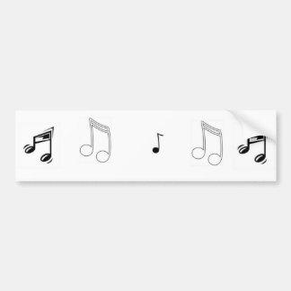 Ljud av musik bildekal