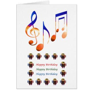 Ljud av musik - grattis på födelsedagen hälsningskort