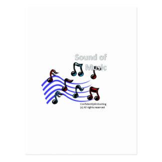 Ljud av musik vykort
