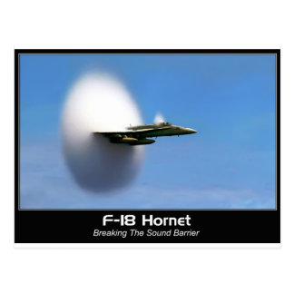 Ljud- bålgeting för bang F-18 Vykort