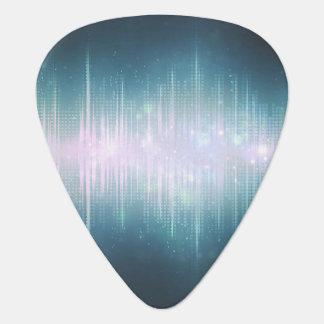 Ljud vinkar utrymme plektrum
