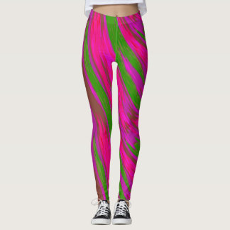 Ljus abstrakt för Swish för rosagröntfärg Leggings