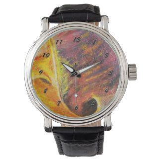 Ljus abstrakt Watch-orange & rosor Armbandsur
