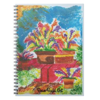 ljus anteckningsbok - blått