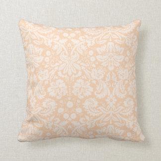 Ljus aprikos, damastast mönster för persika kudde