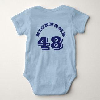 Ljus bak - sportar Jersey för blått- & marinbaby | Tshirts