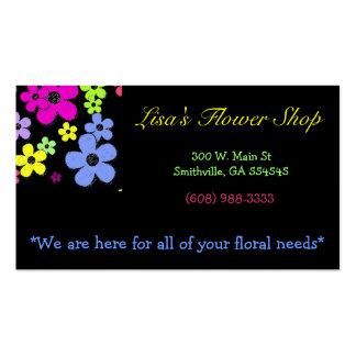 Ljus blom- blomsterhandel visitkort