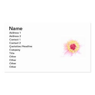 Ljus blomma set av standard visitkort