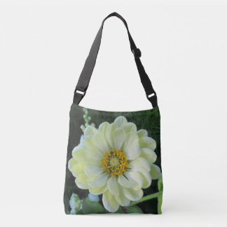 Ljus Dahlia - gul blomma Axelväska