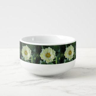 Ljus Dahlia - gul blomma Soppmugg