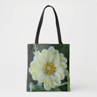 Ljus Dahlia - gul blomma Tygkasse