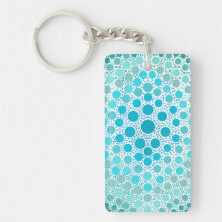 Ljus DIY-Tie-Färg stil - - blått Rektangulärt Dubbelsidigt Nyckelring I Akryl