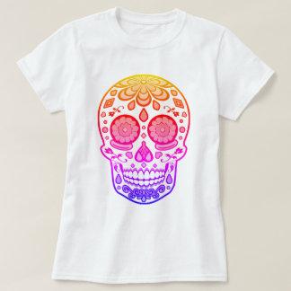 Ljus färgrik skjorta för godissockerskalle tröjor