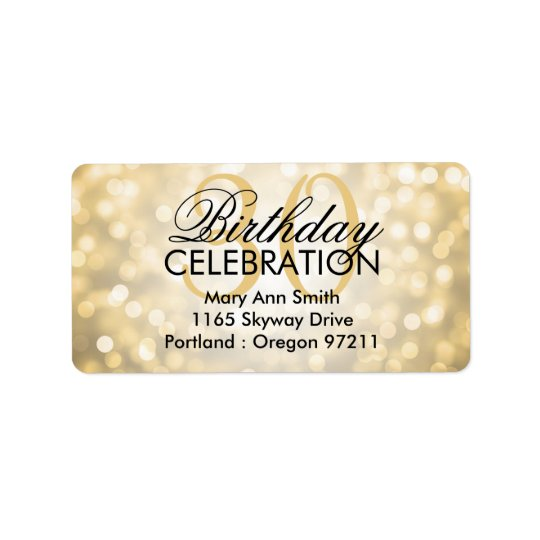 Ljus för glitter för adress30års födelsedagparty adressetikett