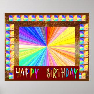 Ljus gnistraSpectrum: HappyBirthday födelsedag Poster
