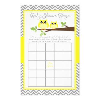 Ljus gul Bingo för baby shower för Reklamblad 14 X 21,5 Cm