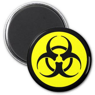 Ljus gul Biohazardsymbolmagnet Magnet