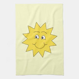 Ljus gul sommarsol. Le framsidan Kökshandduk