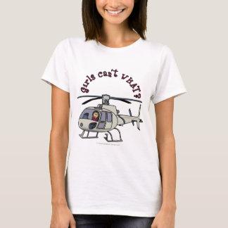 Ljus helikopterflicka t-shirts