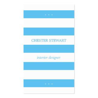 Ljus himmel - blått görar randig det personliga set av standard visitkort