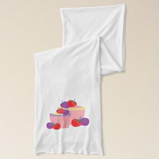 Ljus jordgubbe- och muffinskonst sjal