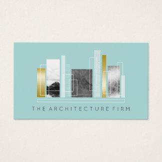 Ljus kricka för geometrisk arkitektur & Fauxguld Visitkort