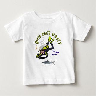 Ljus kvinnaScubadykare T Shirt