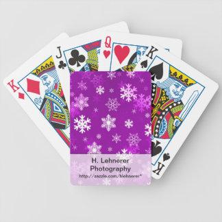 Ljus lila snöflingor spel kort
