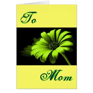 Ljus lycklig mors dag - grön gul daisy mig