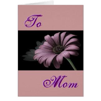 Ljus lycklig mors dag - purpurfärgad daisy III Hälsningskort